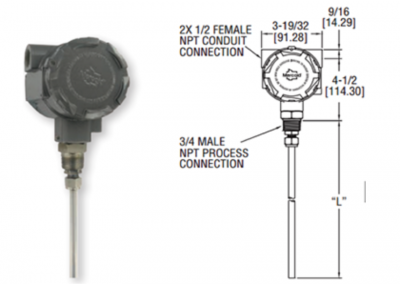 Transmisor de nivel tipo capacitivo